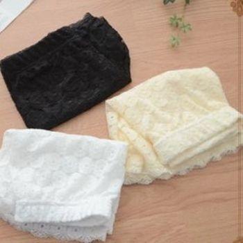 [協賀]純色蕾絲女士安全褲修身防走光短褲