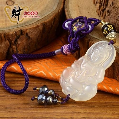 【財神小舖】祈福觀音吊飾(紫色)《含開光》救苦救難,普渡眾生