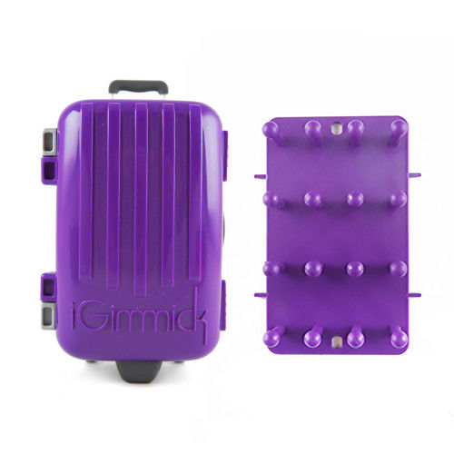 【iGimmick】3C線材收納盒 紫色行李箱