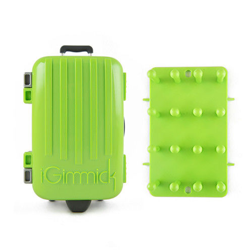 【iGimmick】3C線材收納盒 綠色行李箱