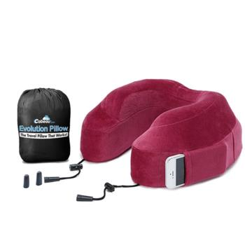 【CABEAU】旅行用記憶頸枕 (深紅色) 飛機枕