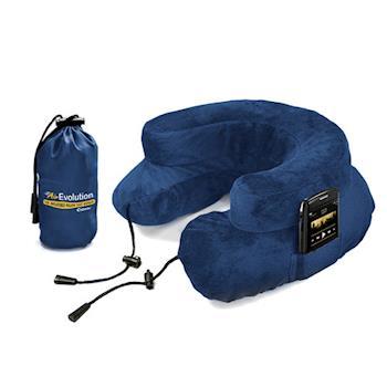 【CABEAU】專利進化護頸充氣枕-藍色