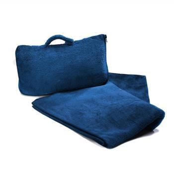 【CABEAU】保暖飛機毯Fold n Go Blanket - 藍色