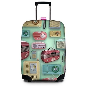 【SUITSUIT】行李箱套 - 復古收音機 Transistor Radio