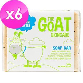 【澳洲進口 The Goat Soap】檸檬羊奶皂 100克 X 6塊(家庭號檸檬味100克 X 6 塊組)