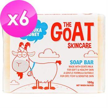【澳洲進口 The Goat Soap】蜂蜜羊奶皂 100克 X 6塊(家庭號蜂蜜味100克 X 6 塊組)