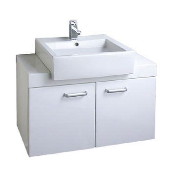 【HCG】浴櫃系列-LCP55臉盆浴櫃(含龍頭) LF4115N龍頭