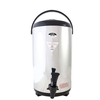 【牛88】日式休閒不鏽鋼茶桶(12L)