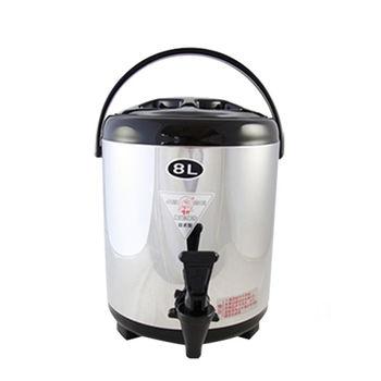 【牛88】日式休閒不鏽鋼茶桶(8L)