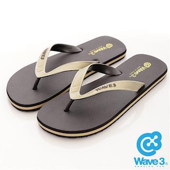 WAVE 3 (男) -  雙子座 獨家設計ESP 四代雙色鞋耳人字夾腳拖鞋 - 金黑