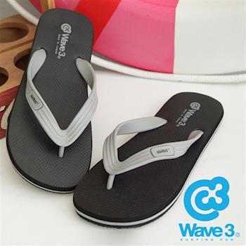 WAVE 3 (男) - 大器  ESP 二代橡膠大底人字夾腳拖 - 灰黑