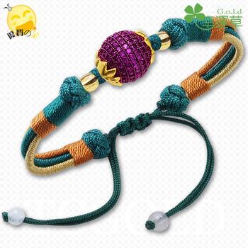 幸運草金飾-滿意-純金手環
