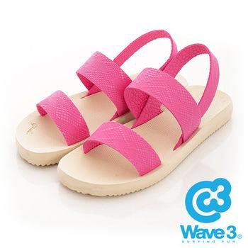 WAVE 3 (女) - 二線道 無重量感潛水羅馬涼鞋 - 杏底粉