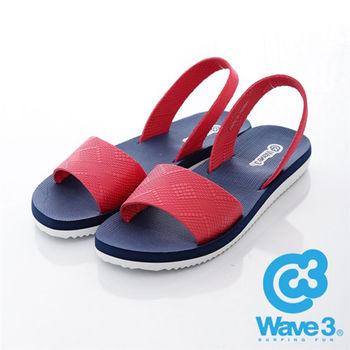 WAVE 3 (女) - 兜兜風 無重量感潛水羅馬涼鞋 - 藍紅