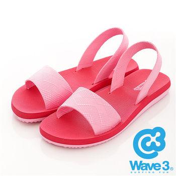 WAVE 3 (女) - 兜兜風 無重量感潛水羅馬涼鞋 - 紅粉