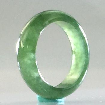 緬甸天然翡翠A貨 冰種滿綠戒指 C892