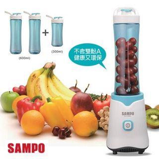【SAMPO聲寶】隨行杯果汁機三杯組KJ-L13061L