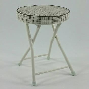 喬治亞厚墊拉扣折疊椅1入白咖啡紋