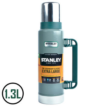 【美國Stanley】不鏽鋼保溫瓶/經典真空保溫瓶  1.3L(錘紋綠)