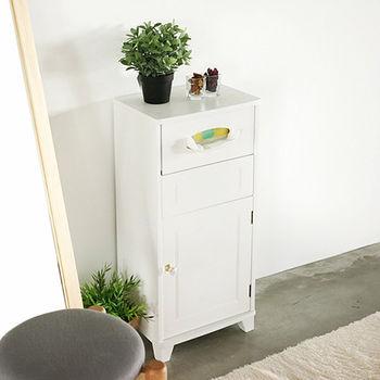 《舒適屋》法式夢幻公主風附垃圾桶邊櫃/置物櫃