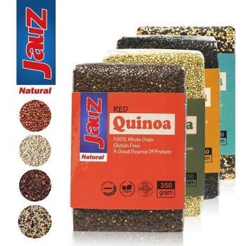 【JAUZ喬斯】紅藜麥+白藜麥+黑藜麥+三色藜麥QUINOA 4包組(350公克*4包)