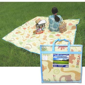 【BabyTiger虎兒寶】Parklon 韓國帕龍無毒地墊 - 攜帶型加大單面回紋野餐墊-恐龍款