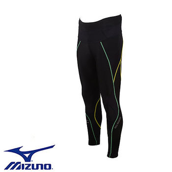 【Mizuno 美津濃】 頂級BG5000 男壓縮緊身褲 A60BP-30093 (黑x彩虹)