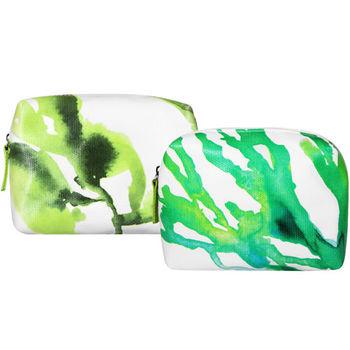 LA MER 海洋拉娜 珊瑚化妝包(青草綠)+(墨綠)
