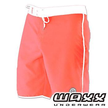 《WAXX》繽紛系列-快乾型男衝浪褲(粉橘色)(18吋)
