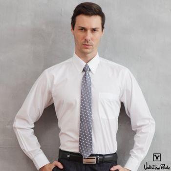 Valentino Rudy范倫鐵諾.路迪-長袖襯衫-白色素面(釘釦領)