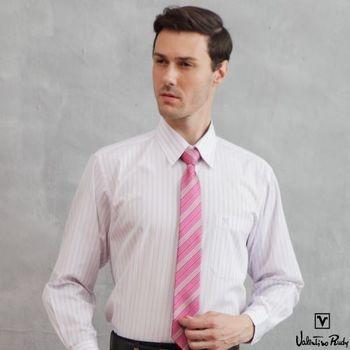 Valentino Rudy范倫鐵諾.路迪-短袖襯衫-淡紫直條