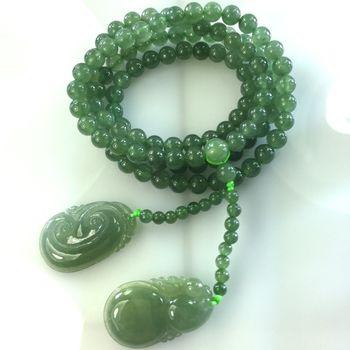 【森茂珠寶】緬甸天然翡翠A貨 冰翠108顆念珠 F2012