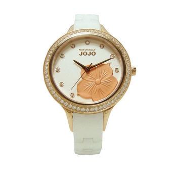 NATURALLY JOJO 花朵盛會時尚優質陶瓷腕錶-玫瑰金-JO96848-80R