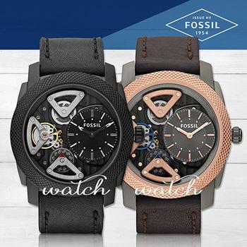 【FOSSIL】人氣首選_多層次時尚機械皮革_男錶(ME1121/ME1122)