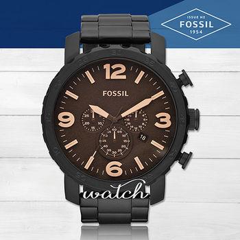 【FOSSIL】雜誌款推薦_經典紳士_不鏽鋼三眼男錶(JR1356)