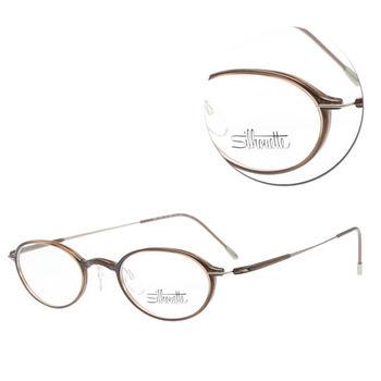 【Silhouette 詩樂】SPX全框橢圓咖啡光學眼鏡(SPX2877-40-6053)