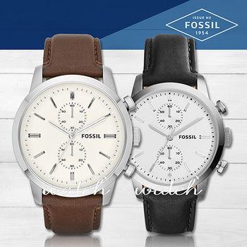 【FOSSIL】雜誌推薦款_經典紳士雙眼皮革_男錶(FS4865/FS5032)