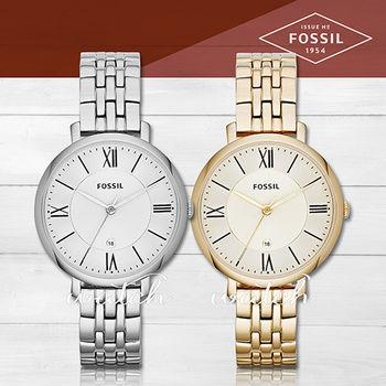 【FOSSIL】簡單時尚_不鏽鋼_指針型女錶(ES3433/ES3434)