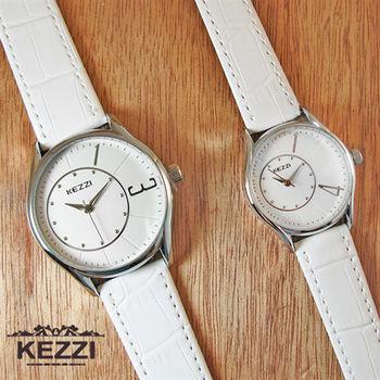 KEZZI一生一世1314數字簡約情侶對錶皮錶