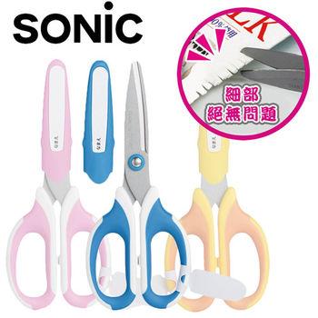 Sonic 學童專用超省力安全止滑剪刀5入