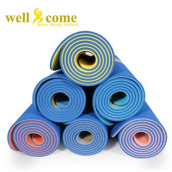 【好吉康 Well Come】TPE 雙層環保瑜珈墊 6mm【送專業背袋】