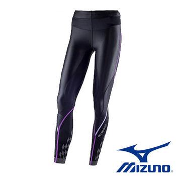 【Mizuno 美津濃】 BG 8000 Ⅱ 女壓縮緊身褲 K2MJ5D0197(黑x紫)