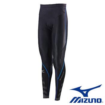 【Mizuno 美津濃】 BG 8000 Ⅱ 男壓縮緊身褲 K2MJ5B0192(黑x藍)