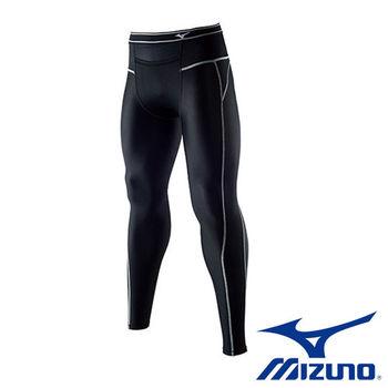 【Mizuno 美津濃】 頂級BG3000R 壓縮緊身褲 A60BP-37090 (男用黑銀灰)