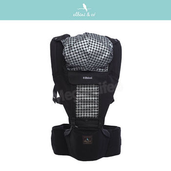優寶兒Elbinico多功能嬰兒坐墊式背巾(黑)