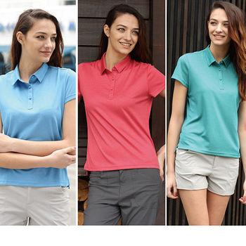 【JORDON】女裝春夏新品 POLARTEC power dry 吸濕快乾 POLO短袖衫(2902)