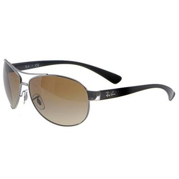 【Ray-Ban雷朋】RB3386 004/13經典包覆型太陽眼鏡(#棕色鏡片-加大版)