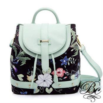 【BELLUCY】繽紛花卉時尚後背包(共三色)