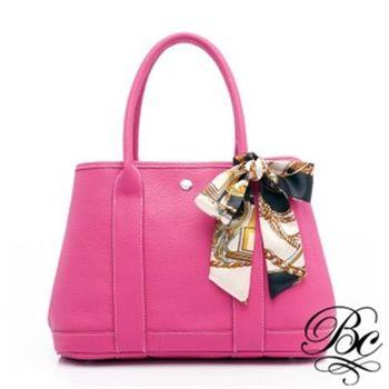 【BELLUCY】時尚甜樣印花絲巾肩背包-共五色