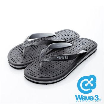WAVE 3 (男) - 極度乾燥 獨家排水設計透爽人字夾腳拖鞋 - 黑灰
